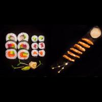 Маки меню и кюфтета от сьомга и тофу